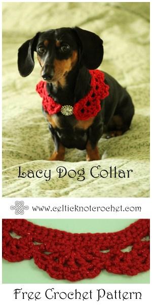 Lacy Dog Collar Celtic Knot Crochet