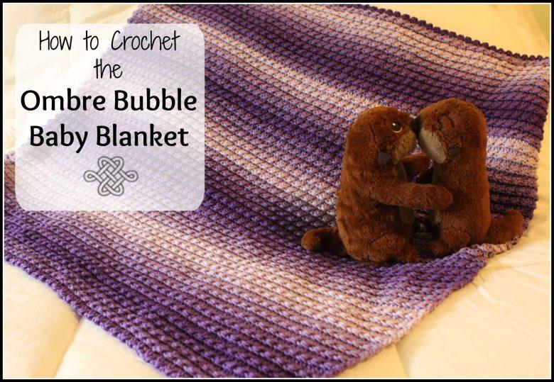 crochet blanket with texture in purple beginner project