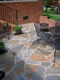 irregular flagstone patio