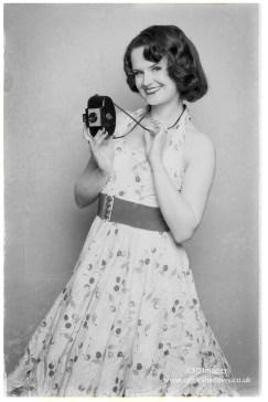 Brandy's pin up shoot with a Kodak Brownie