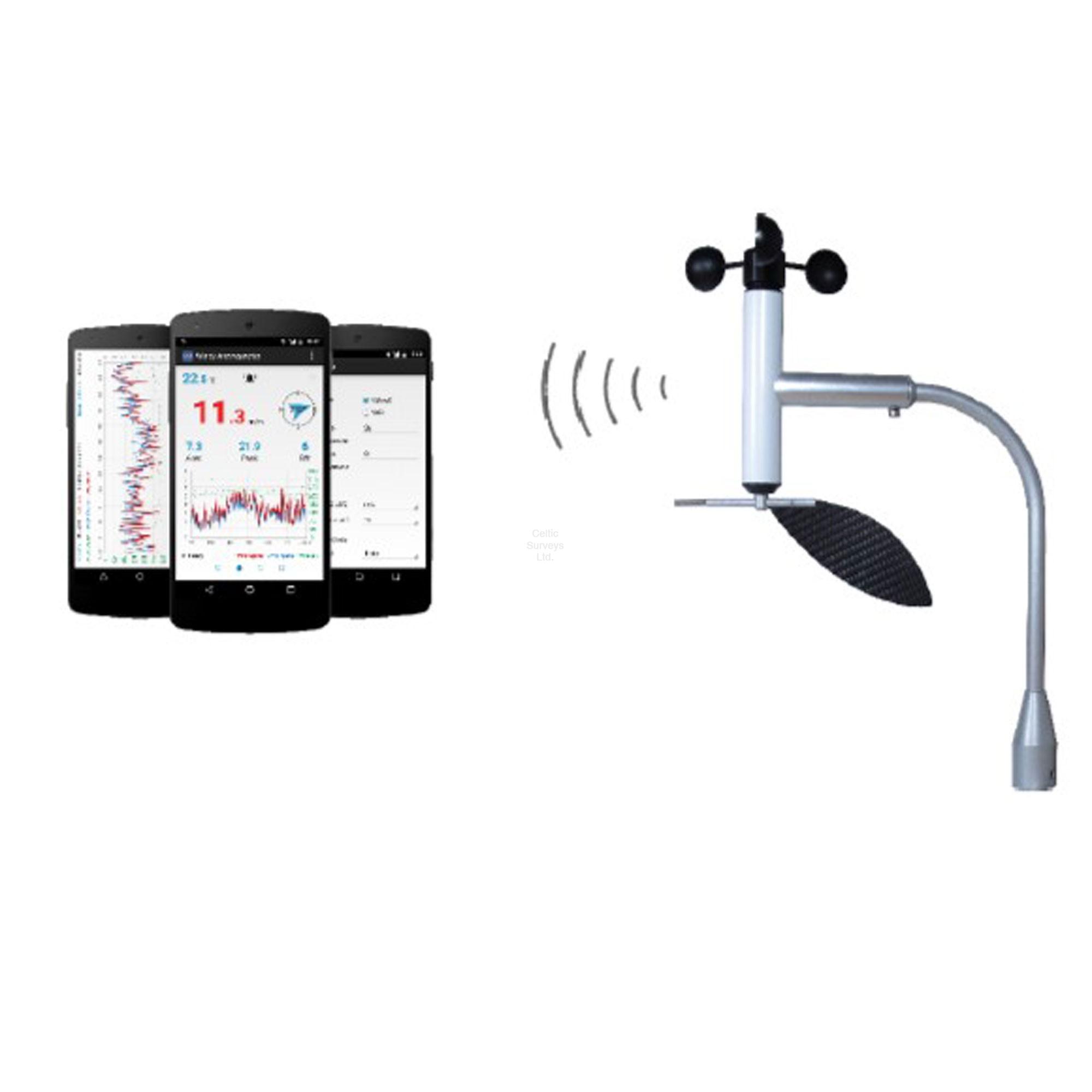 Navis Windy B Sd Smartphone Anemometer Measures Speed