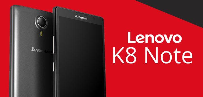 Lenovo K8 Note: smartphone incrivel, preço, especificações e