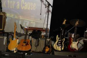 Detail shot of instruments between acts.