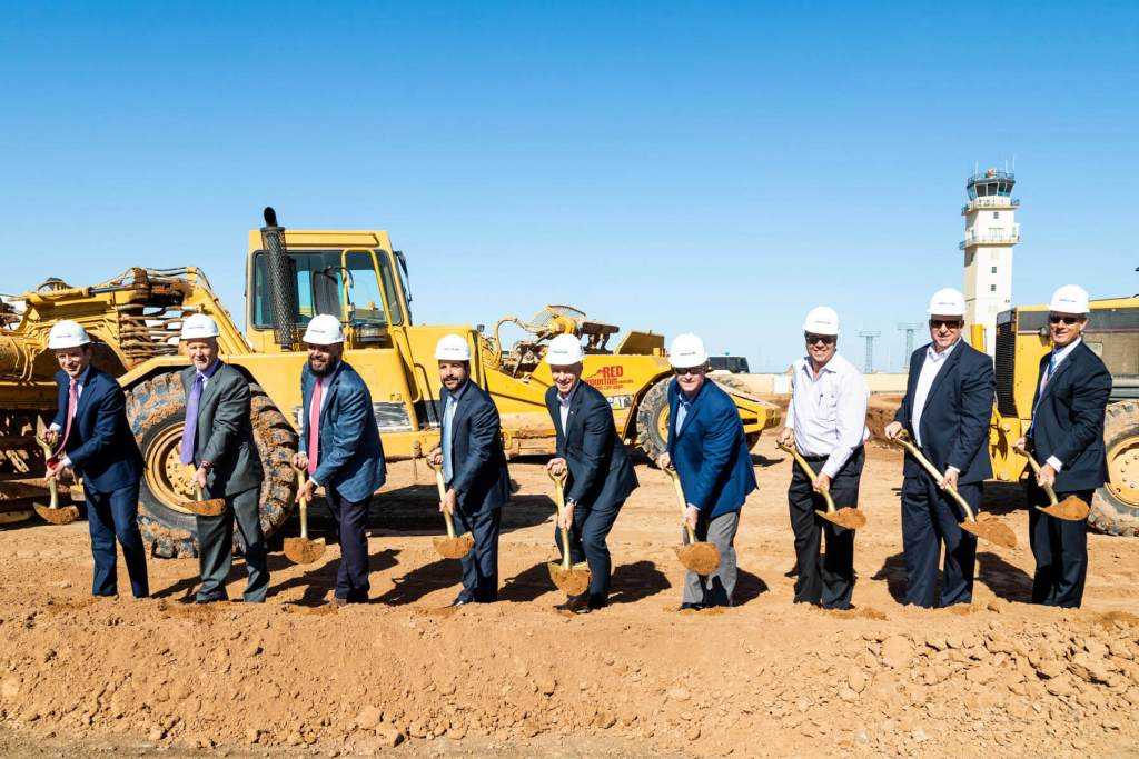 SkyBridge Breaks Ground on First Two Buildings at Gateway Airport