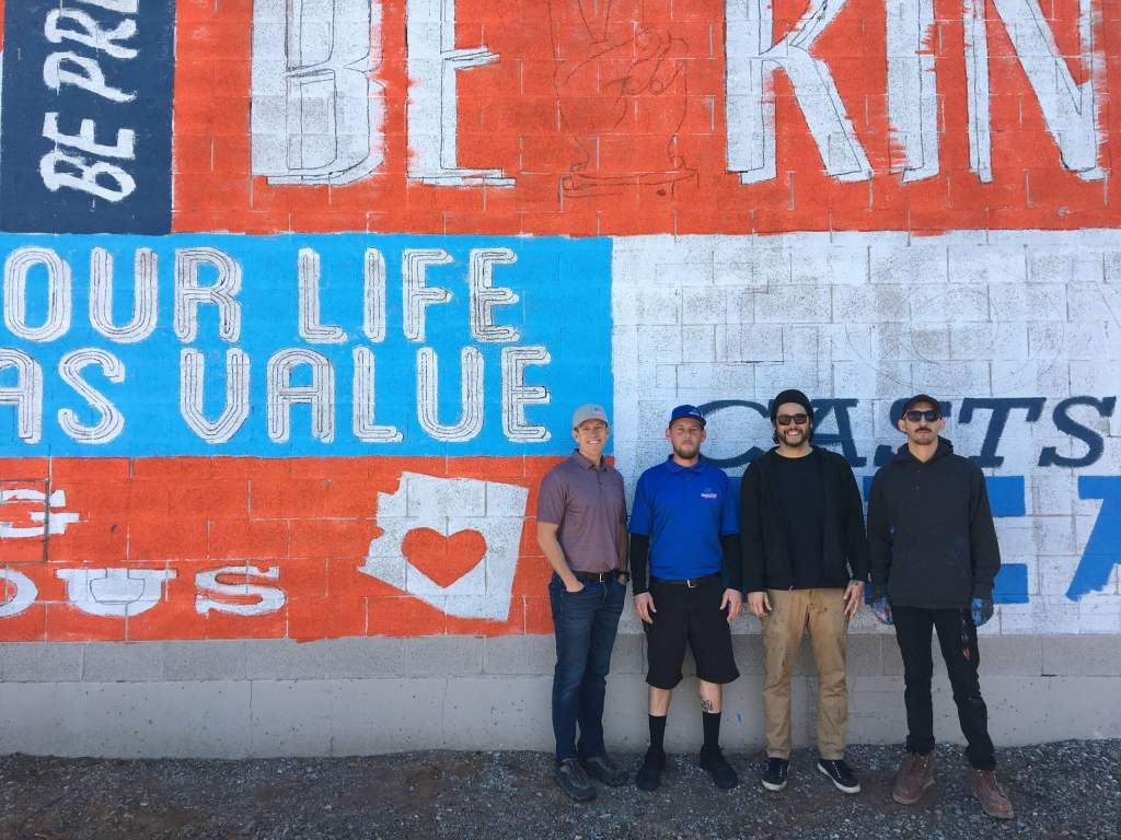 Local Car Wash, Rinse n' Ride, Includes Mural of Encouragement at New Location