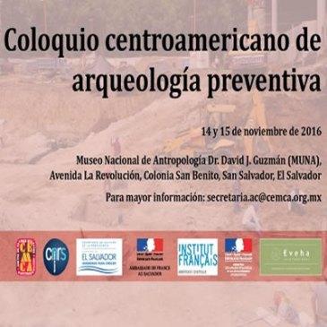 Primer coloquio centroamericano de arqueología preventiva
