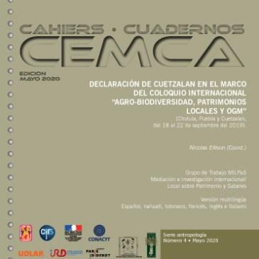 DECLARACION DE CUETZALAN EN EL MARCO DEL COLOQUIO INTERNACIONAL «AGRO-BIODIVERSIDAD, PATRIMONIOS LOCALES Y OGM»