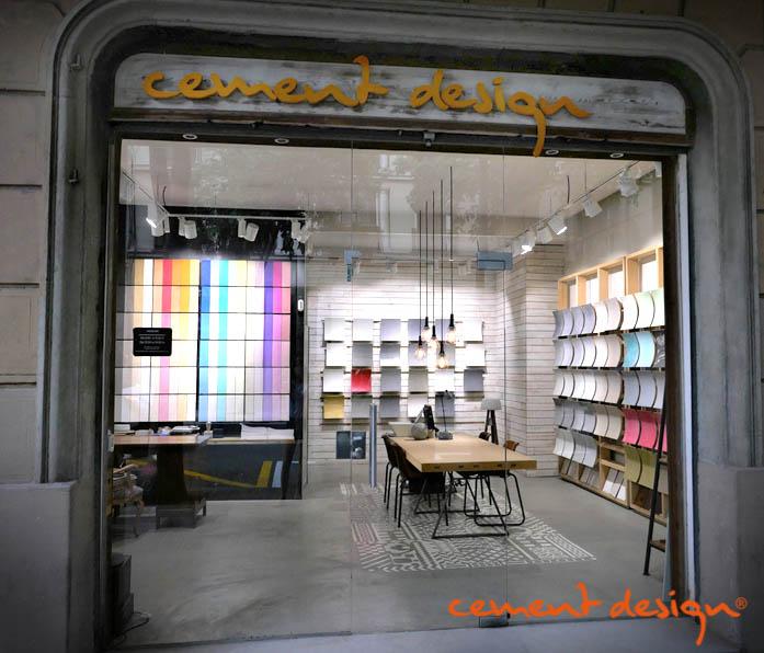 Cement Design Showroom Barcelona