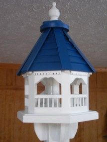 Gazebo Bird Feeders - Handmade Cement Barn