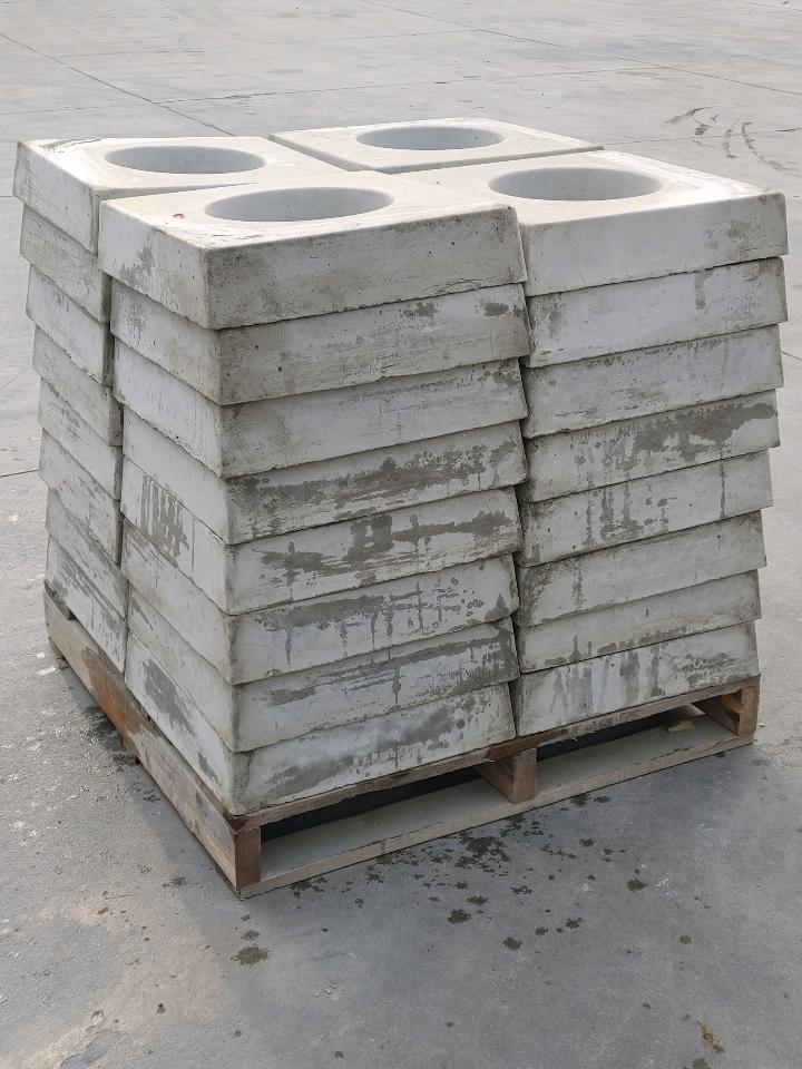 precast water valve pads