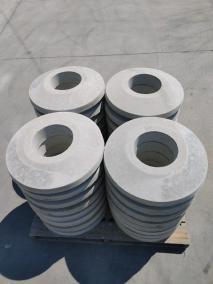 round concrete pads