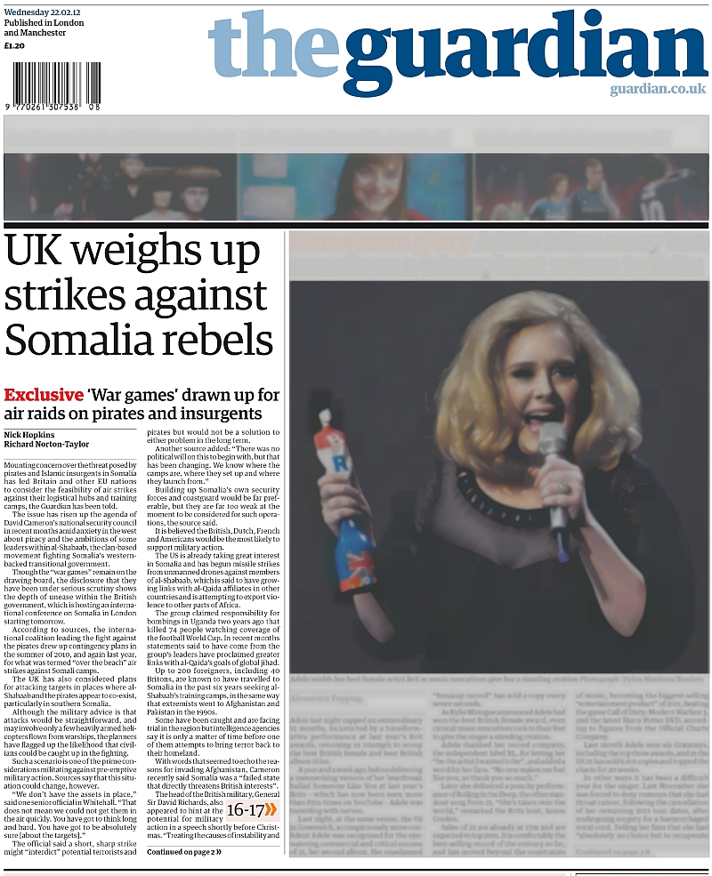 The Guardian: UK weighs up military strikes against Somalia rebels : Indybay