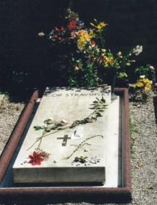 The grave of Igor Stravinsky in San Michele