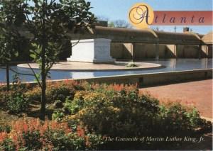 A vintage postcard of Martin Luther King Jr.'s grave