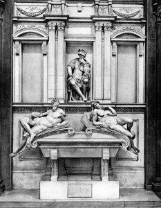 The tomb of Lorenzo, Duke of Urbino, by Michelangelo