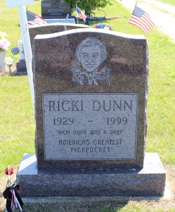 The grave of Ricky Dunn in Colon, Michigan. Photo by Loren Rhoads.