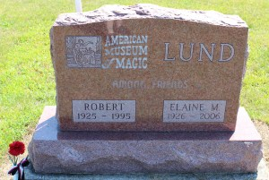 Lund founded of the American Museum of Magic in Marshall, Michigan, which has the largest collection of magic artifacts on display in the US.