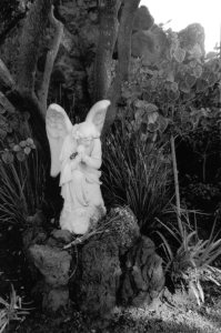 Grotto angel at Holy Cross