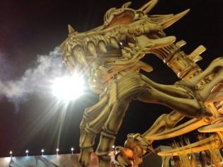 Detalhe do abre-alas da Dragões da Real no Desfile das Campeãs (2017) - Foto de Cassius S. Abreu