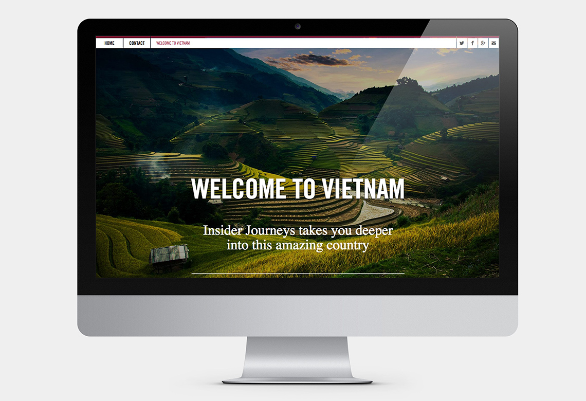 longform design for travel company