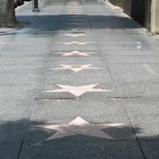 A enorme Calçada da Fama