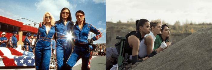 Cameron Diaz, Drew Barrymore, Lucy Liu, Kristen Stewart, Naomi Scott e Ella Balinska já foram espiãs nas verões de As Panteras