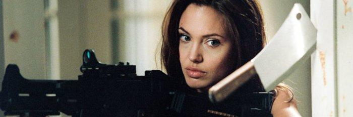 Entre as espiãs de Angelina Jolie está Jane Smith em Sr. e Sra. Smith (Mr. and Mrs. Smith, 2005)