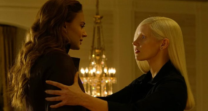 Sophie Turner e Jessica Chastain in X-Men: Fênix Negra (Dark Phoenix), 2019