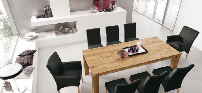 table chaise moderne rustique la deco