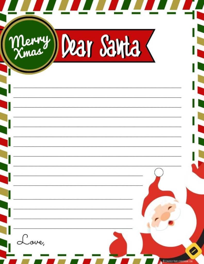 send a letter to santa printable cenzerely yours. Black Bedroom Furniture Sets. Home Design Ideas