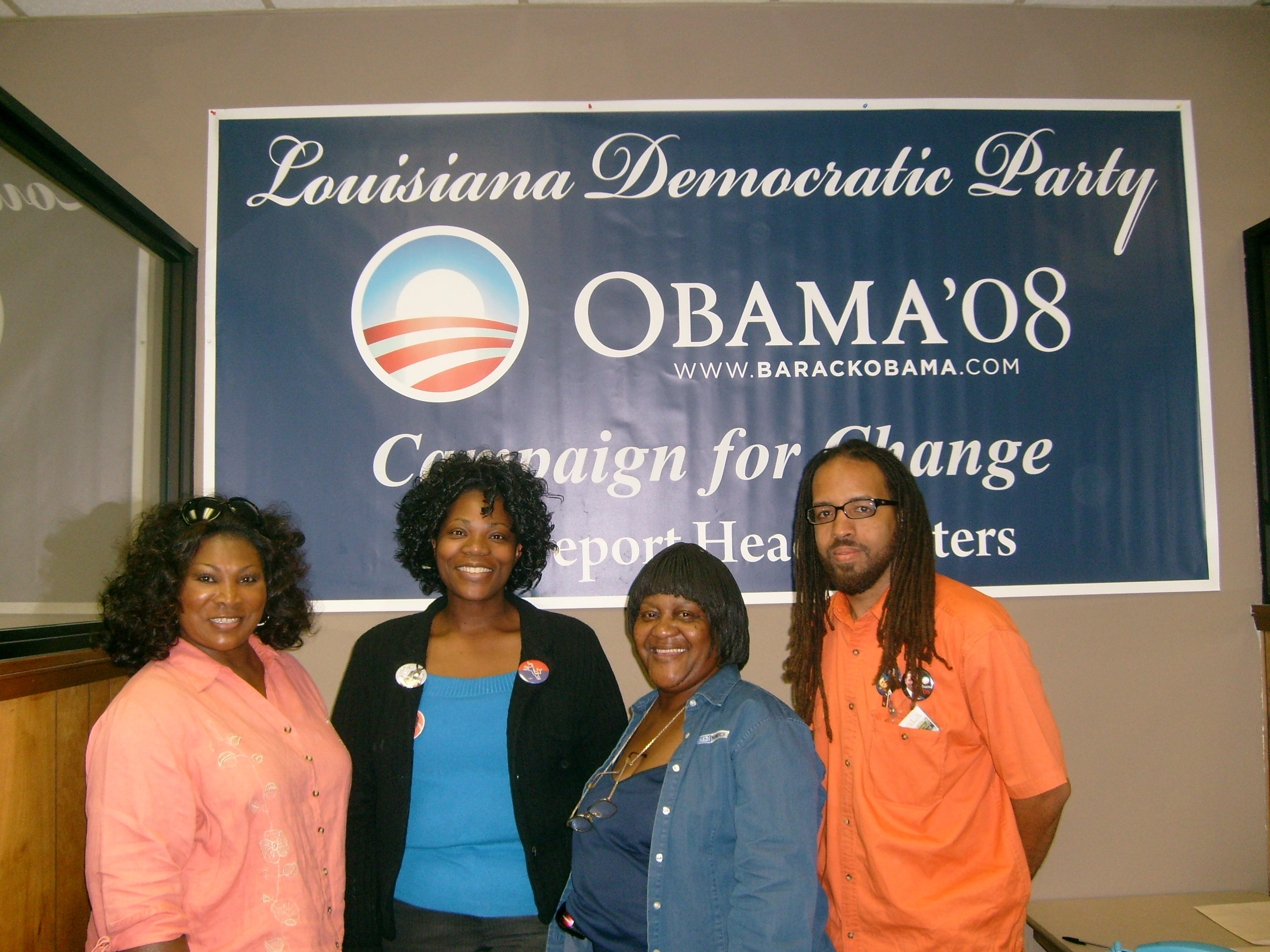 mildred-kellie-gloria-and-kaylon-for-obama