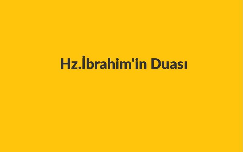 Hz.İbrahimin Duası 100