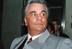 Former Mafia boss John Gotti, who  died in  a prison hospital.
