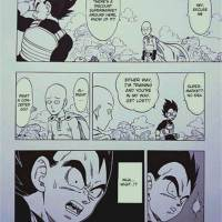 One Punch Man's Saitama Meets Dragon Ball Z's Vegeta