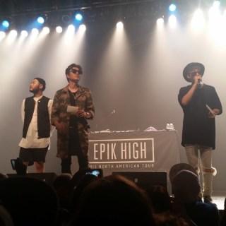 Epik High at their Atlanta leg of their 2015 North American tour.