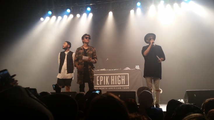Epik High at their Atlanta leg of their 2015 North American tour.