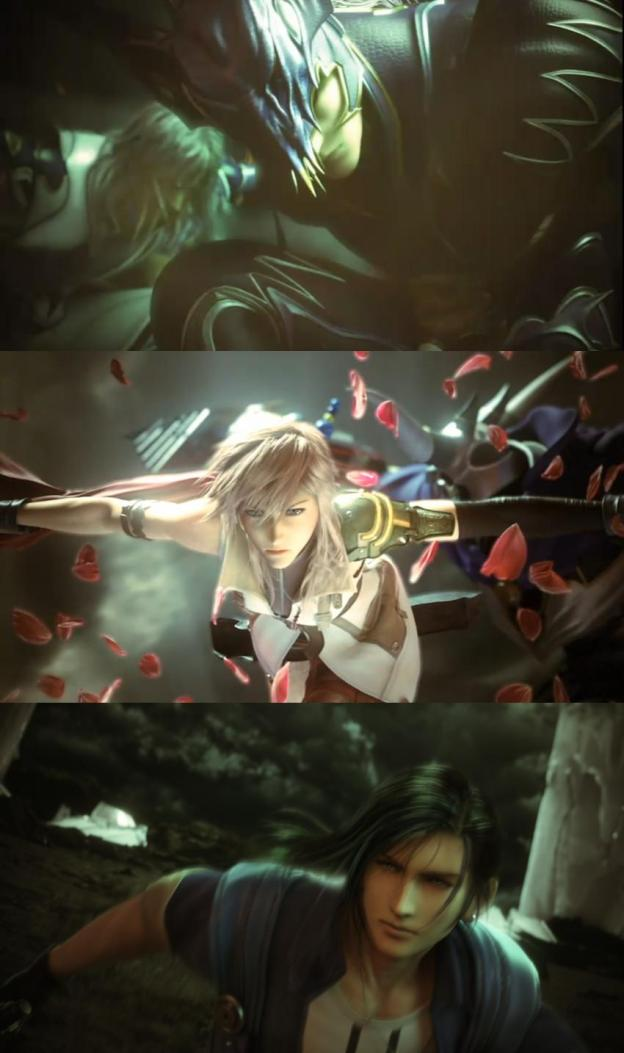 Kain, Lighting, and Laguna from Dissidia 012: Final Fantasy