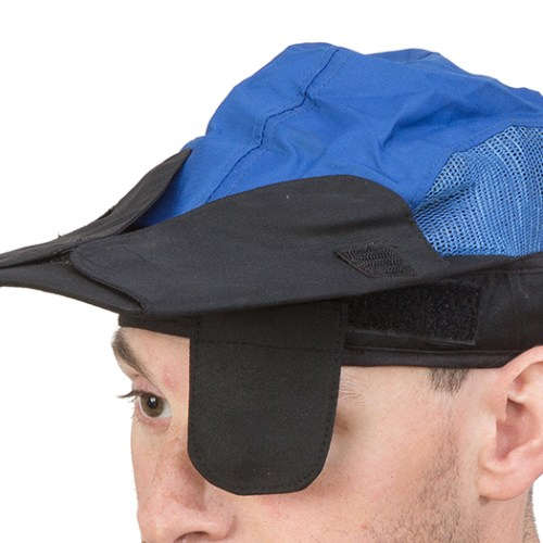 Centaur Model 16 shooting cap with blinder side flaps - view with side flaps up