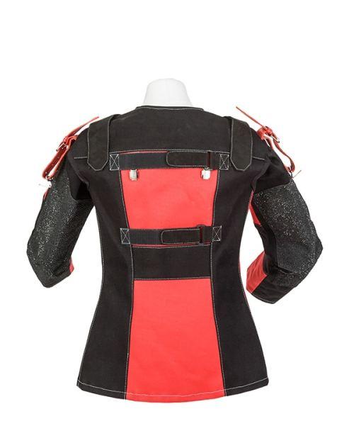 Centaur Target Sports Club 17 ambidextrous adjustable canvas target shooting jacket - Back view