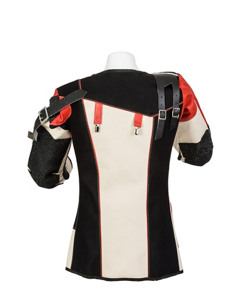 Centaur Match 16 Double Canvas and Leather Target Shooting Jacket - Back view