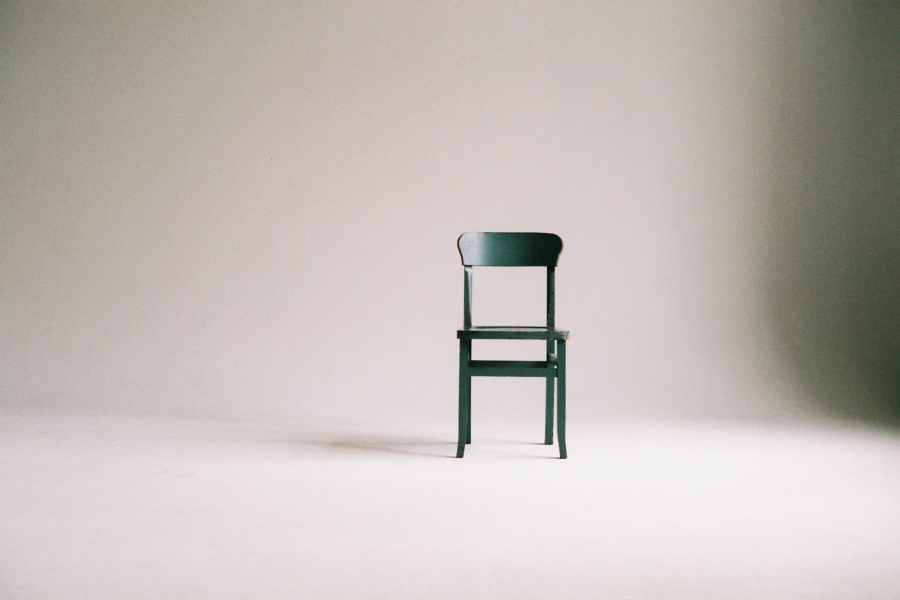 A chair in a gray room