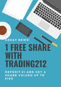 1 Free share Trading212