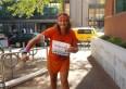 Susan Gapka after finishing her 10k run