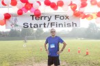 Alan Shefman, cancer survivor and councillor of the City of Vaughan, getting set to run the Terry Fox Run in Thornhill, Ont.