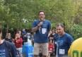 Jagger Long, organizer of the Liberty Village Terry Fox Run, makes an announcement at the event on September, 18, 2016. (Zaid Noorsumar photo)