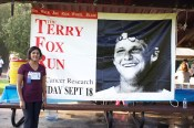 Sutha Shanmugarajah is one of many participants at Scarborough's Terry Fox Run in Cedar Brook Park. (Rhianne Campbell Photo)
