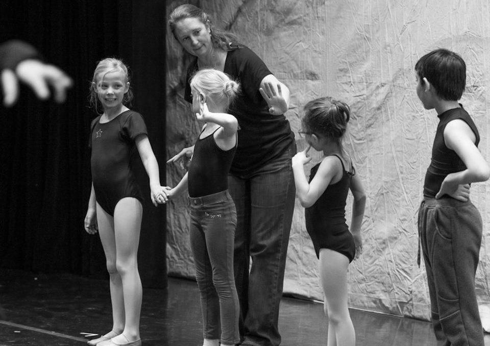Kristin - Instructing littles on stage 2