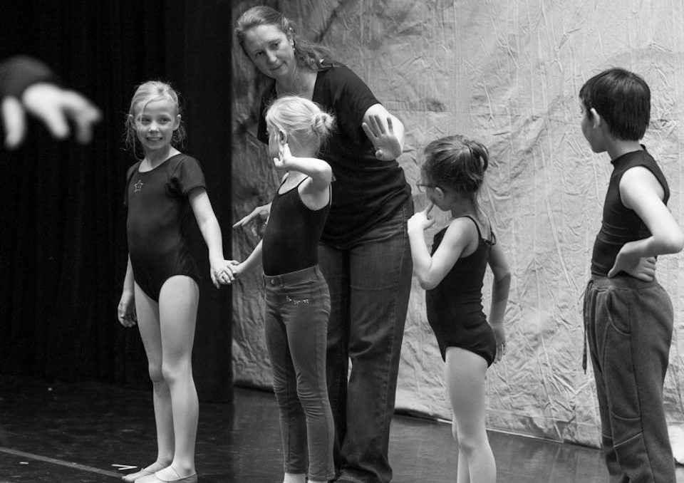 Kristin - Instructing littles on stage 2