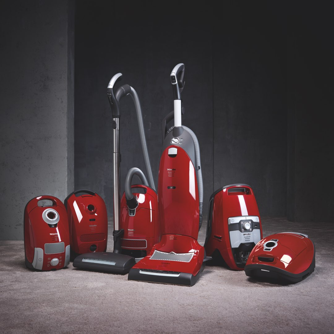 Miele upright and canisters vacuum line