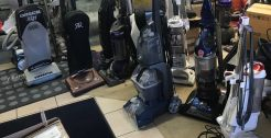 Traded-in vacuums. Oreck, Riccar, Shark, Bissell vacuums